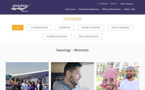 Screenshot of Testimonials Page seawings.ae - Seawings Moments - Seawings Seaplane Tours - captured Nov. 8, 2018