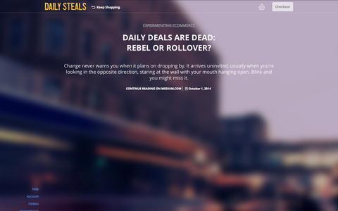 Screenshot of Blog dailysteals.com - DailySteals - captured Oct. 14, 2015