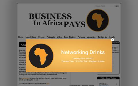 Screenshot of About Page businessinafricapays.com - About Us : Business in Africa Pays - captured June 3, 2017