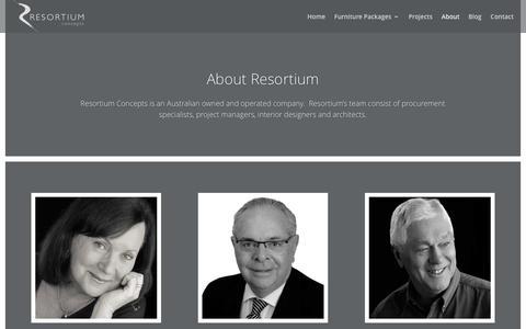 Screenshot of About Page resortiumconcepts.com.au - About - Resortium Concepts - Furniture Packages & Procurement Specialists - captured Dec. 16, 2016