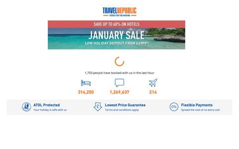 Cheap hotels, flights and holidays from Travel Republic