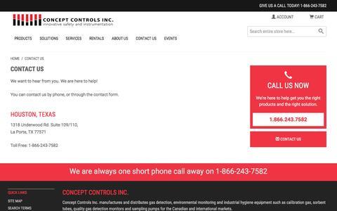 Screenshot of About Page conceptcontrols.com - Contact Us - captured Nov. 10, 2016