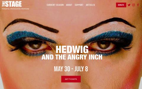 Screenshot of Home Page thestage.org - The Stage - captured June 9, 2018