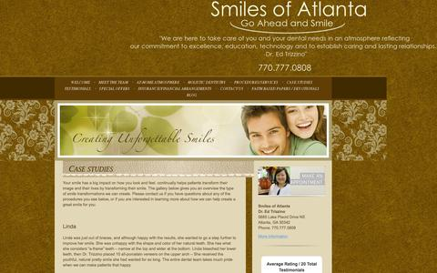 Screenshot of Case Studies Page smilesofatlanta.com - Atlanta GA Dentist, Atlanta Family Dentist, Dentist 30342 - Case Studies - captured June 24, 2016