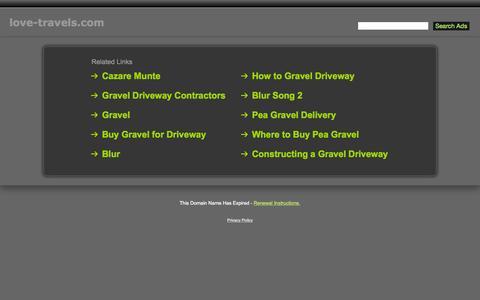 Screenshot of Home Page love-travels.com - Love-Travels.com - captured Sept. 7, 2015