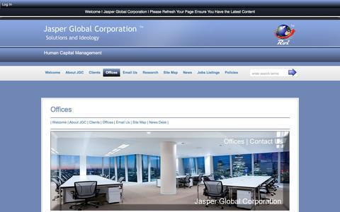 Screenshot of Contact Page jasperglobal.com - Offices :: Jasper Global Corporation - captured Nov. 19, 2016