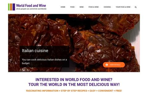 Screenshot of Home Page world-food-and-wine.com - World Food and Wine - captured Feb. 14, 2018