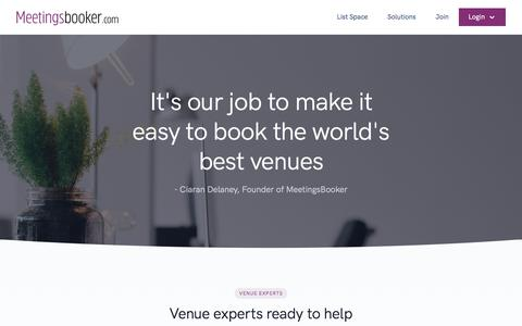 Screenshot of Contact Page meetingsbooker.com - Contact Us - Conference organisers and meeting planners access +70,000 conference rooms - Meetingsbooker.com - captured Aug. 15, 2019