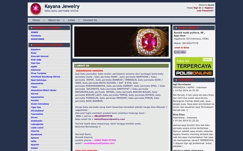 Screenshot of About Page kayanajewelry.com - About Us » Cincin Permata | batu permata | batu mulia | batu safir | batu akik | cincin batu - captured Nov. 3, 2014