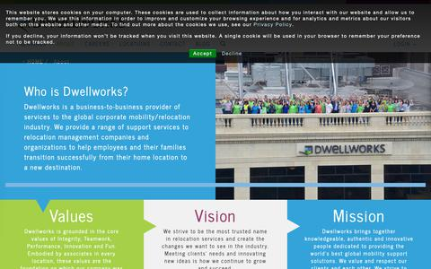 Screenshot of About Page dwellworks.com - Corporate Mobility & Relocation Services Company | Dwellworks | - captured Oct. 7, 2018