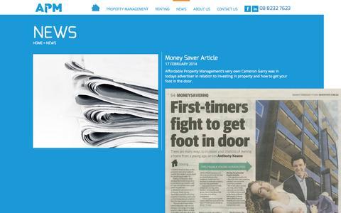 Screenshot of Press Page apmrental.com.au captured Oct. 4, 2014