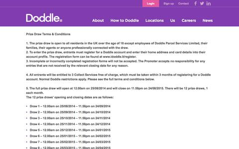 Screenshot of Terms Page doddle.it - Doddle - captured Sept. 25, 2014
