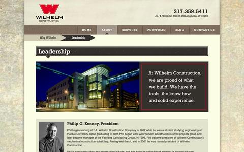 Screenshot of Team Page fawilhelm.com - Leadership | Wilhelm Construction | Construction Management Company - captured Oct. 4, 2014
