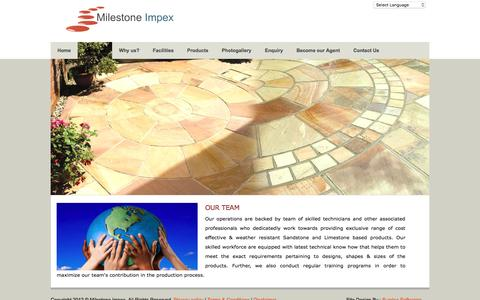 Screenshot of Team Page milestoneimpex.com - Untitled Page - captured Aug. 12, 2016