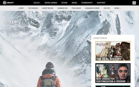 Screenshot of Press Page ubisoft.com - Steep - Ubisoft® - Official Ubisoft News, Previews and Features - captured Nov. 8, 2019