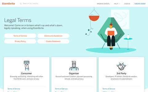 Screenshot of Terms Page eventbrite.com - Legal Terms | Eventbrite - captured April 18, 2018