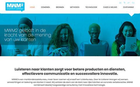 Screenshot of Home Page mwm2.nl - Marktonderzoeksbureau MWM2 | Amsterdam - captured March 20, 2018