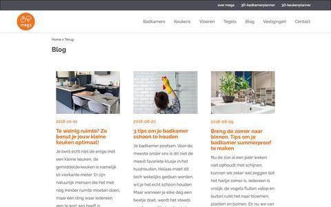 Screenshot of Blog megategel.nl - Inspiratie en tips voor je badkamer, keuken en vloer!   Mega blog - captured Oct. 17, 2018