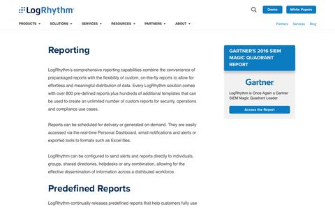 Reporting | LogRhythm