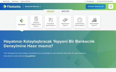 Screenshot of Home Page fibabanka.com.tr - Fibabanka | Hızlı ve Kolay Bankacılık - captured April 23, 2019