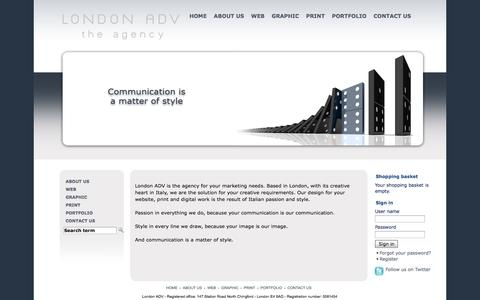 Screenshot of Menu Page londonadv.co.uk - London ADV - The Agency - captured Sept. 30, 2014
