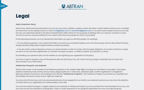 Screenshot of Terms Page abtran.com - Legal - Abtran Abtran - captured Dec. 5, 2015