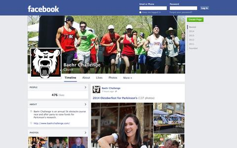 Screenshot of Facebook Page facebook.com - Baehr Challenge - Phoenix, Arizona - Cause | Facebook - captured Oct. 23, 2014
