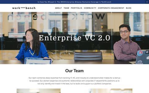 Screenshot of Team Page work-bench.com - Enterprise VC 2.0 — Work-Bench - captured Sept. 21, 2018