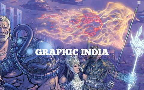 Screenshot of Home Page graphicindia.com - Graphic India | The Power of Story! - captured Jan. 15, 2015