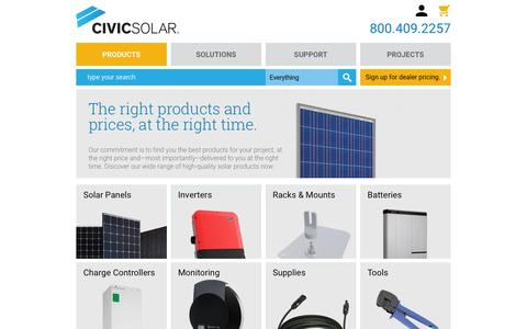 Screenshot of Products Page civicsolar.com - Products | CivicSolar - captured May 18, 2019