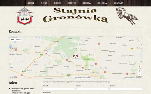 Screenshot of Contact Page gronowka.pl - Kontakt - captured April 12, 2017