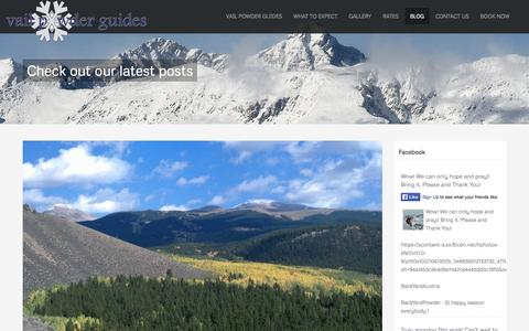 Screenshot of Blog vailpowderguides.com - Check out our latest posts | Vail Powder Guides - captured Oct. 27, 2014
