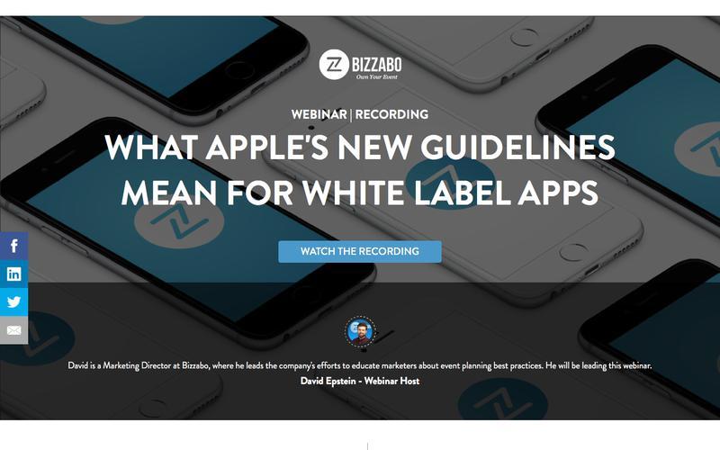 Apple App Store Updates White Label Webinar | Bizzabo