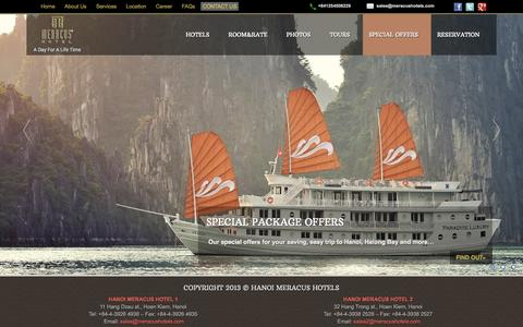 Screenshot of Home Page meracushotels.com - Meracus Hotels | A Day For A Life Time - captured Sept. 27, 2014
