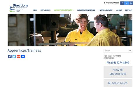 Screenshot of Signup Page directionswa.com.au - Job Seekers | Directions Workforce Solutions - captured Oct. 9, 2018