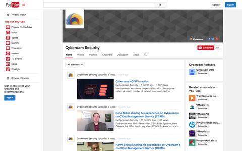 Screenshot of YouTube Page youtube.com - Cyberoam Security  - YouTube - captured Oct. 22, 2014