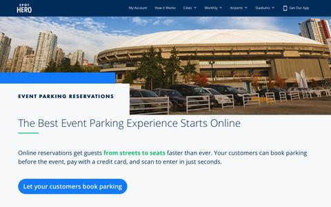 Screenshot of Products Page spothero.com - Online Valet Parking Reservations | SpotHero - captured Jan. 1, 2020