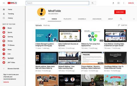 MindTickle - YouTube - YouTube
