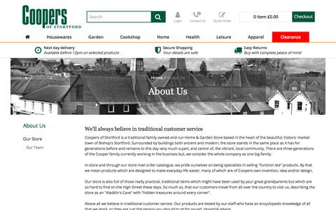 Screenshot of About Page coopersofstortford.co.uk - About Us | Coopers Of Stortford - captured July 22, 2018