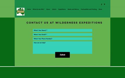 Screenshot of Contact Page wildex.com.au - Wilderness Expeditio | Contact - captured Oct. 18, 2018
