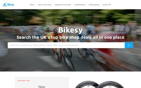 Screenshot of Home Page bikesy.co.uk - Bikesy The Cycling Bargain Finder Scans the Top UK Bike Stores For The Cheapest Prices - captured Feb. 24, 2018