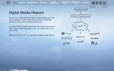 Screenshot of About Page cloud19.com - About - Cloud 19 Media - captured Sept. 28, 2018
