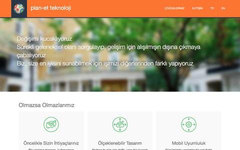 Screenshot of Home Page plan-etpro.net - plan-et - captured April 18, 2016