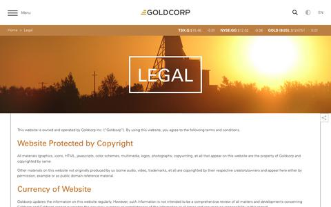 Screenshot of Terms Page goldcorp.com - Goldcorp Inc. - Legal - captured Dec. 8, 2017