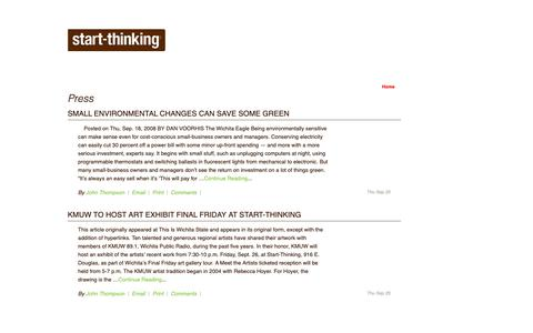 Screenshot of Press Page start-thinking.com - Press | Start-Thinking - captured Oct. 18, 2018