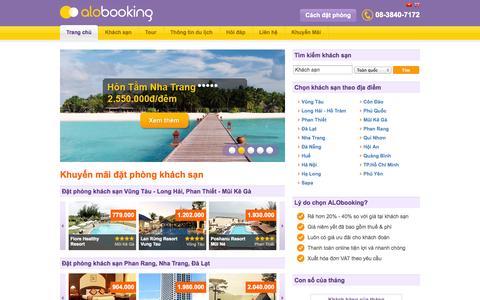 Screenshot of Home Page alobooking.net - Đặt phòng khách sạn giá rẻ | ALObooking - captured Oct. 8, 2014