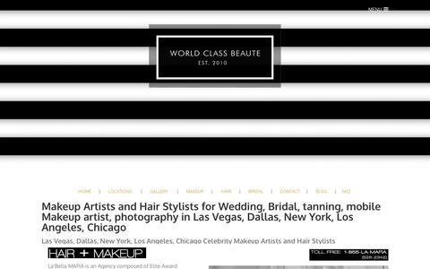 Screenshot of About Page labellamafiabeauty.com - Makeup Artists + Hair Stylists  - La'Bella MAFIA Makeup Artists + Hair Styling Agency - captured Dec. 2, 2016