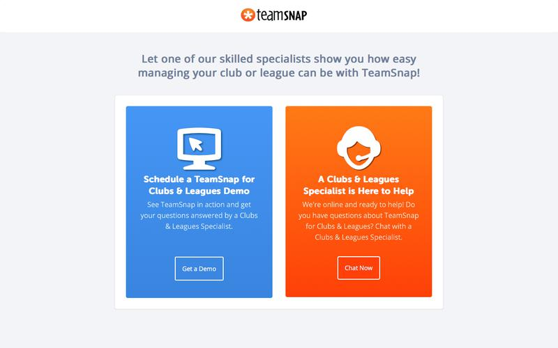 TeamSnap: Sign Up