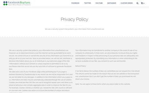 Privacy Policy - Facebook Buy Fans