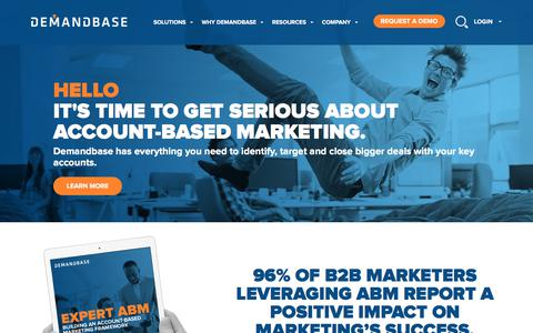 Screenshot of Home Page demandbase.com - Account-Based Marketing – Demandbase | Discover how Account-Based Marketing drives success for your B2B marketing. - captured June 24, 2017